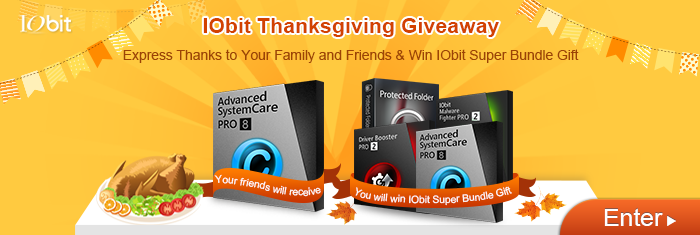 IObit Thanksgiving Giveaway
